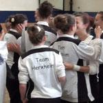 Freude ist groß: die Voltigierer aus Herxheim bei der Siegerehrung