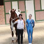 fahren zur EM: Sophie Hofmann mit Heide Pozepnia und Dunhill