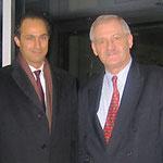 Egon Jüttner mit Gamal Mubarak, Sohn des ägyptischen Staatspräsidenten Hosni Mubarak