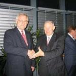 Egon Jüttner mit Ministerpräsident a.D. Günther Beckstein
