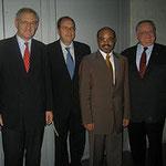 Egon Jüttner mit dem äthiopischen Premierminister Meles Zenawi beim Ausschuss für wirtschaftliche Zusammenarbeit und Entwicklung