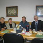 Hermann Silbernagel, Regina Trösch, Erwin Feike und Prof. Dr. Egon Jüttner beim Mittelstandsgespräch (von links)