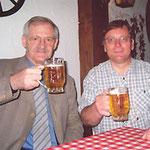 Egon Jüttner mit Erwin Feike, Stadtrat und Landtagskandidat für Mannheim-Nord