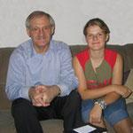Egon Jüttner mit der von ihm ausgewählten Stipendiatin für das Parlamentarische Patenschaftsprogramm, Nora Lennartz