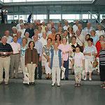 Die Behindertensportgruppe Waldhof unter der Leitung von Harri Leist besucht Egon Jüttner in Berlin