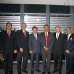 Egon Jüttner mit Otto Wiesheu und Günther Beckstein im Kreise arabischer Botschafter in Berlin