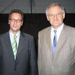 Egon Jüttner mit dem baden-württembergischen Minister für Ernährung und ländlichen Raum a.D., Peter Hauk MdL