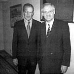 Prof. Jüttner mit dem russischen Außenminister Sergej Viktorowitsch Lawrow