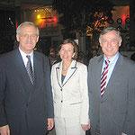 Egon Jüttner mit Bundespräsident a.D. Prof. Dr. Horst Köhler und Frau Eva Köhler in Berlin