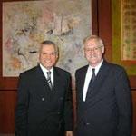 Prof. Jüttner mit dem ehemaligen ägyptischen Botschafter Muhammad M. Al-Orabi