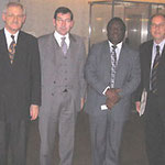 Egon Jüttner mit dem simbabwischen Oppositionsführer Morgan Tsvangirai (2.v.r.) und Mitgliedern des Ausschusses für wirtschaftliche Zusammenarbeit und Entwicklung