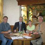 Erwin Feike, Egon Jüttner, Regina Trösch und Günther Heckmann (von links) beim Weißen Ring