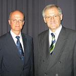 Wissenschaftsminister Prof. Dr. Frankenberg und Prof. Dr. Egon Jüttner bei der Wahlkreisvertreterversammlung