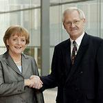Angela Merkel und Egon Jüttner im Konrad-Adenauer-Haus in Berlin
