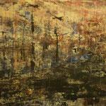 "Anja Kühnrich-Wilke, ""VI"", 2009, Acryl auf Leinwand, 100 x 160 cm"