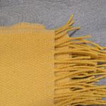 S. Fischbacher Living - Plaids/ Kuscheldecke Schurwolle Reversible Yellow Sun