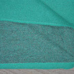 S. Fischbacher Living - Plaids/ Kuscheldecke Schurwolle Reversible Turquoise Green