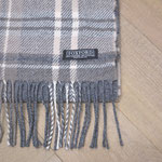S. Fischbacher Living - Wollschal - Grey Tartan
