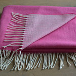 Home of Plaids - Lambswool Pashmina - Pink Reversible