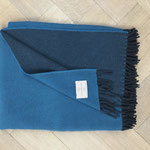 S. Fischbacher Living - Plaids/ Kuscheldecke Schurwolle Reversible Midnight Blue