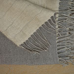 S. Fischbacher Living - Plaid aus Leinen und Merinowolle - Feather Grey