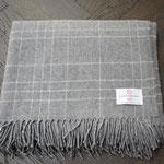 S. Fischbacher Living - Plaids/ Kuscheldecke Schurwolle Cosy Grey Grid