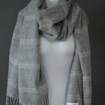 Home of Plaids - Lambswool Pashmina - Grey Grid