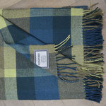 S. Fischbacher Living - Plaids/ Kuscheldecke von Foxford - Blocks Blue and Brown