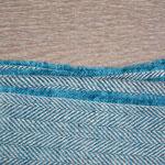 S. Fischbacher Living - Plaids aus irischem Leinen - Arctic Blue