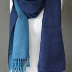 Home of Plaids - Lambswool Pashmina - Midnight Ocean - Reversible