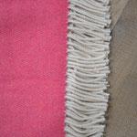 S. Fischbacher Living - Plaids/ Kuscheldecke Schurwolle Reversible Raspberry