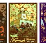 Illustration et graphisme pour une série d'affiches et cartes postales