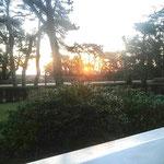 Sonnenaufgang über dem Meer (Blick von Frühstücksveranda)