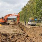 Chantier de drainage agricole