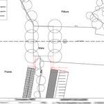 Beauvais - Plan de préparation du chantier - Autocad