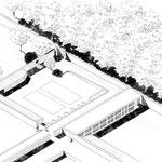 Versailles - Axonométrie manuelle