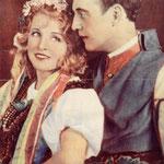 Ola Obarska i Witold Zdzitowiecki w scenie z operetki Polska krew ( T.Miejski Bydgoszcz 1931 )