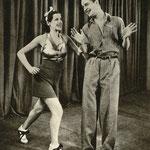 Helena Grossówna Zbigniew Rakowiecki w scenie z filmu Kochaj tylko mnie 1935