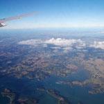 Im Anflug auf Neuseeland (Nordinsel, Auckland)