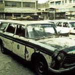 Taxistand in Taiz.