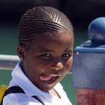 Mädchen an der Waterfront von Kapstadt.