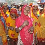 Frauen beim Pushkarfest.