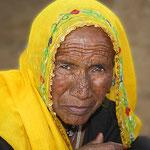 Vom Leben gezeichnet. - Frau in Pushkar.