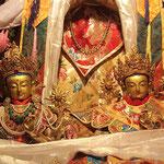 Gottheiten im Drepung - Kloster, einem der ältesten Klöster von Tibet.