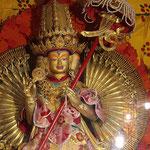 Gottheit im Drepung - Kloster, einem der ältesten Klöster von Tibet.