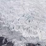 Riesiger Gletscher beim Karo -La, dem Pass mit über 5000 m Höhe auf dem Weg von Gyantse nach Lhasa.