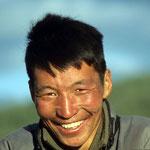 Junger Mann aus einer Sippe im Changai-Gebirge.
