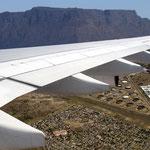 Anflug auf Kapstadt.