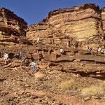 """Frühtour zu der auf einem Felsplateau gelegenen Tempelanlage """"Serabit El Khadim""""."""