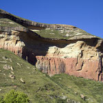 Felsformationen in den Drakensbergen.